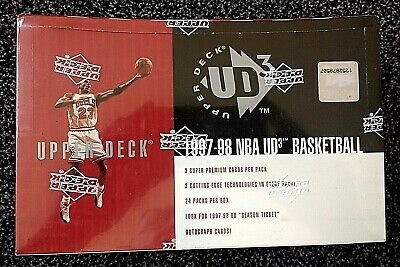1997-98 Upper Deck UD3 Basketball Hobby Box - possible Michael Jordan Autograph
