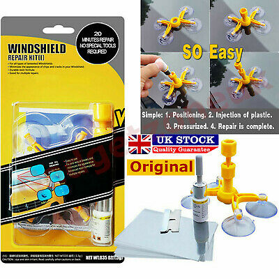 Premium DIY Windscreen Crack Repair Kit Car Chip Windshield Glass Wind Screen UK