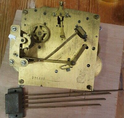 Clock movement and westminster chime bars for spares or repair