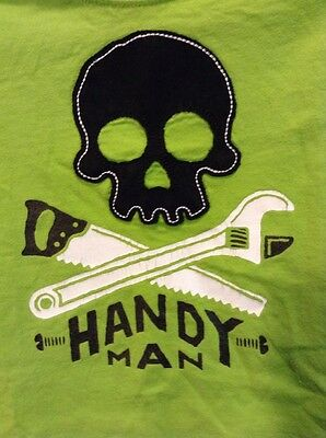 Garanimals Boys T-Shirt Size 18 Months Handy Man Green Short Sleeve Tee