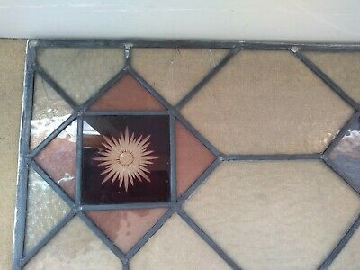 Pair of Stained Glass Leaded Panels/windows/door inserts