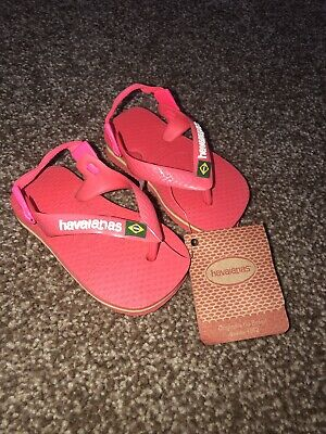 HAVAIANAS Baby size 17-18 PINK & YELLOW. AGE 9-12 Months   NEW 💗