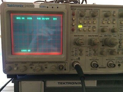 1031 hours TEKTRONIX 2465B OSCILLOSCOPE + TV & GPIB opts, refurbed & cal'd @ BIN