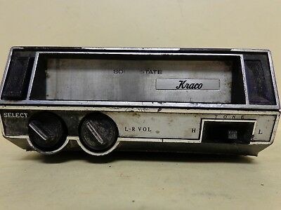 New Kraco Solid State Tape  8 Track Player KS-340B