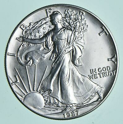 1987 American Silver Eagle 1 Troy Oz .999 Fine Silver Brilliant Uncirculated BU