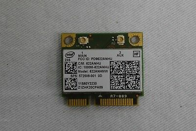 Intel 6200 622ANHMW AGN 802.11n Wireless Half Mini Card