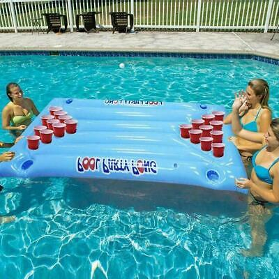 INFLATABLE BEER POOL Pong Float Table Raft Lounge Party Game ...