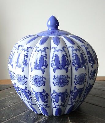 Grand Pot Gingembre Ancien Porcelaine Chinoise Antique Chinese Ginger Jar