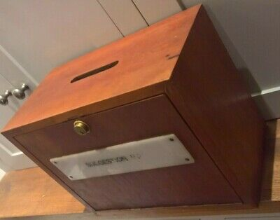 Vintage solid wood suggestion box