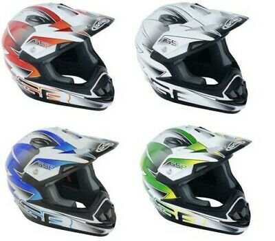 Gsb XP-14B Motocross Atv Hors Route Casque Graphique Multicolore Acu Or