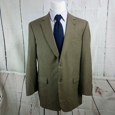 Jos A Bank Signature Collection Gordon 42L Brown Houndstooth Blazer Sports Coat
