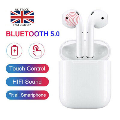 i12 TWS Touch Control Wireless Airpods Earbuds Earpod for iPhone/Samsung
