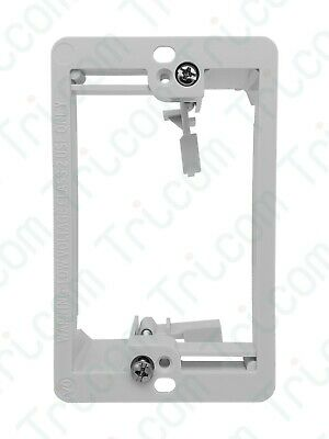 Tricom Single 1-Gang Low Voltage Wall Plate Mounting Bracket - White