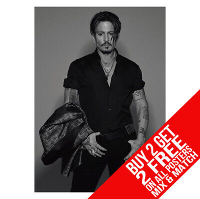 BUY 2 GET ANY 2 FREE JOHNNY DEPP BB3 POSTER ART PRINT A4 A3 SIZE