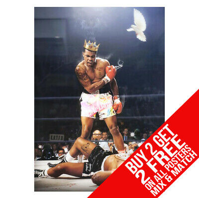 MUHAMMAD ALI CHAMPION QUOTE Poster Boxing Gym Art Photo Print Poster A3 A4
