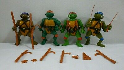 Teenage Mutant Ninja Turtles Leo Mike Raph Donnie Hard Head Figure Set TMNT 1988