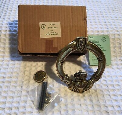 new CELTIC BRASSWARE The Claddagh Ring Solid Brass Irish Door Knocker