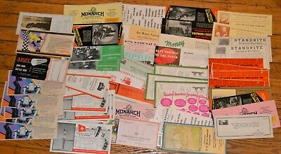 """Lot Of 60 Mostly 9 x 4"""" 1920's 30's,40's Advertising Ink Blotters"""