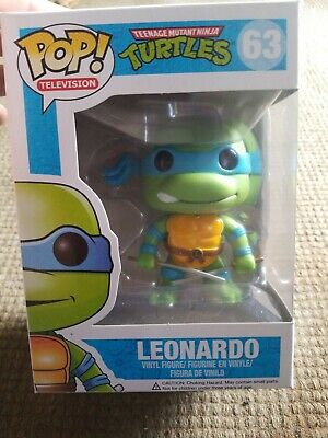 Leonardo Teenage Mutant Ninja Turtles Pop Television Vinyl Figure Funko #63