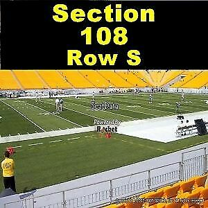 2 Pittsburgh Steelers vs Indianapolis Colts Tickets 11/3 Heinz Section 108 Row S
