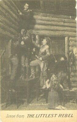 Mary Miles Minter The Littlest Rebel silent movie theatre  postcard