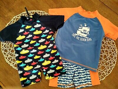 2x Sprout Baby Boy Bathers/Swimmers NEW size 0 & 00