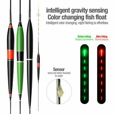 Automatically Remind Smart Led Light Fishing Float Fish Bite Glowing Electric CA