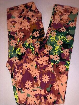 (BoxT) LuLaRoe Kids Leggings L/XL New Multicolor Pinks Black Green Yellow Floral