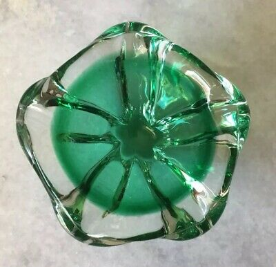 Beautiful Vintage Murano Glass Green Bowl