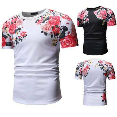 Men's o neck t shirts slim fit casual tops summer blouse muscle tee short sleeve