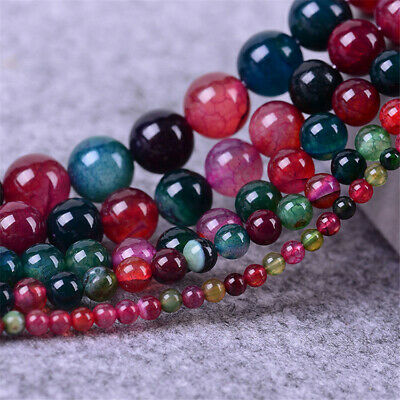 10mm Natural Round Color Agate Loose Beads Diy Accessories Jewelry Making Top