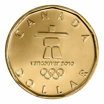 1 Dollar Canada 2010 Vancouver Olympic Games Lucky Inukshuk Loonie, 2010