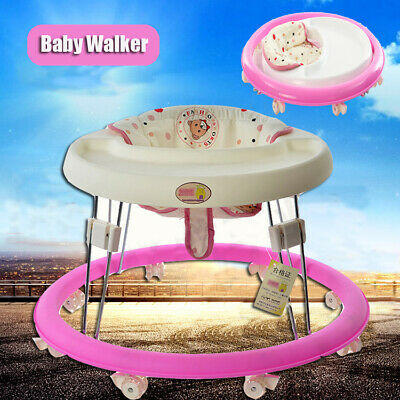 Baby Walker Folding Toddler Safe Walk Learning Assistant Chair Lightweight