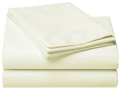 Cream Single,Double,Queen Size Fitted Sheet With Pillowcase Au Selller Bed Sheet