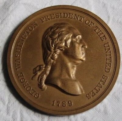 1789 PRESIDENT George Washington PEACE BRONZE MEDAL US Mint
