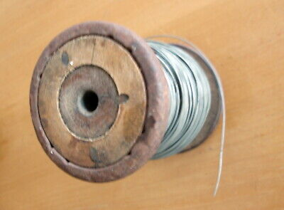 Vintage Reel Of Tinned Copper Wire Made By Uww Granton