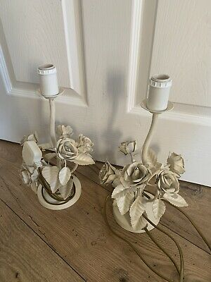 Pair of Vintage Style Laura Ashley Downton Abbey/French Shabby Rose Petals Lamps