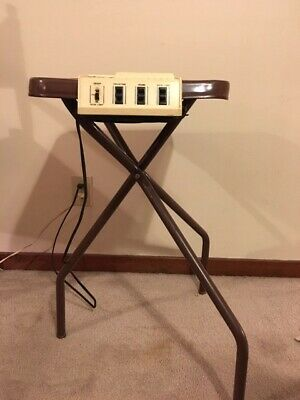 Projek-Table - Vintage Projector Table, with Lights and Receptacles