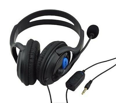 Premium Black PS4 Headphones Headset Large Style with Mic & live chat