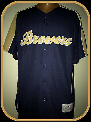 Milwaukee Brewers Prince Fielder Stitched Mlb Licensed Adult Large Jersey