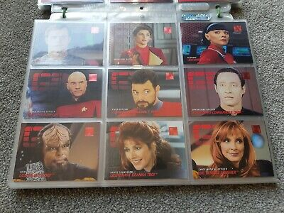 Star Trek Reflections of the Future Trading Cards PHASE 1 2 & 3 complete 300 set