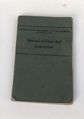 Vintage 1935 Miners First Aid Instruction Manual Bureau Of Mines Coal Anthracite