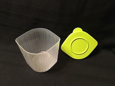 NEW Tupperware Fresh N Cool Medium Container-CLEAR WITH LIME LID FREE SHIPPING!