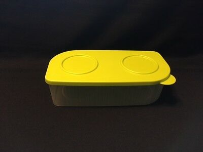 NEW Tupperware Fresh N Cool Large Rectangular Container-CLEAR WITH LIME LID