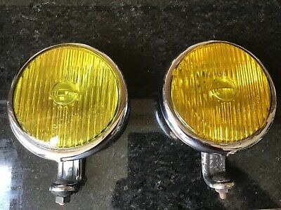 Vintage Bosch yellow chrome  fog light Mercedes Porsche VW