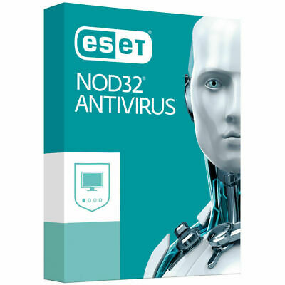 ESET NOD32 Antivirus 2019 1 PC , 2 Year - For BOTH WINDOWS and MAC - Instant