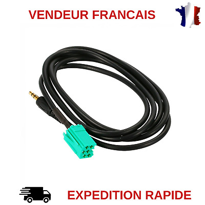 3.5mm JACK ADAPTATEUR ENTREE AUX CABLE MEGANE CLIO 2 3  SCENIC MP3 UPDATE LIST