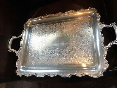 Vintage Antique Webster Wilcox International Silver Co.  Serving Tray