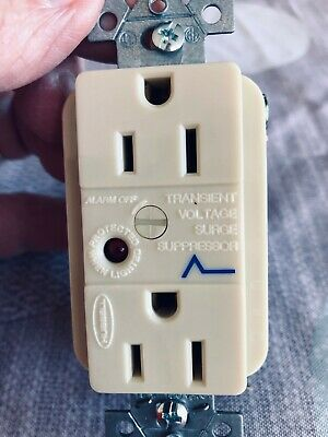 Hubbell  15 A Surge Protector Receptacle Great for Refrigerators, TV's, freezer
