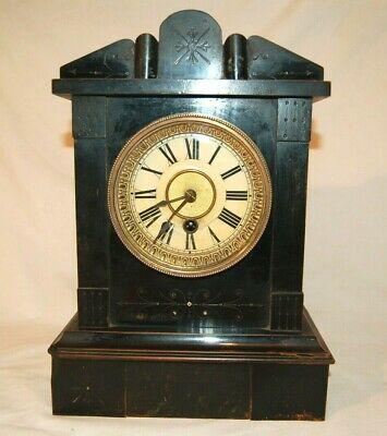 Antique H.A.C. Single Train 30hr Mantle Clock Restored (HAC1T30)